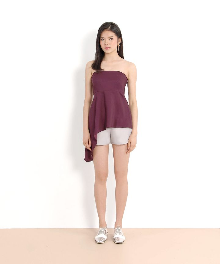 Theo Asymmetrical Top (Plum)