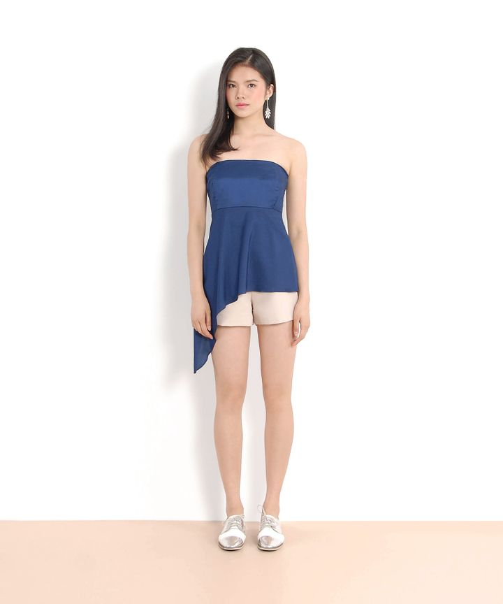 Theo Asymmetrical Top (Navy)