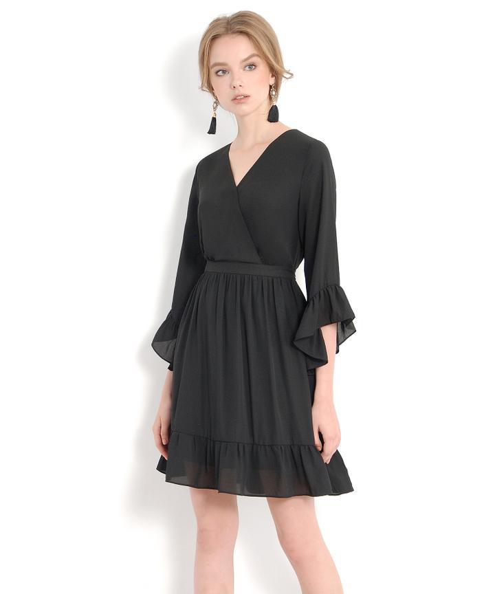 Prudence Kimono Dress - Black