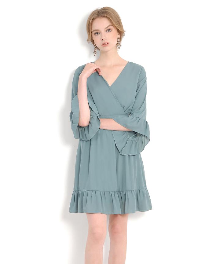 Prudence Kimono Dress - Seafoam