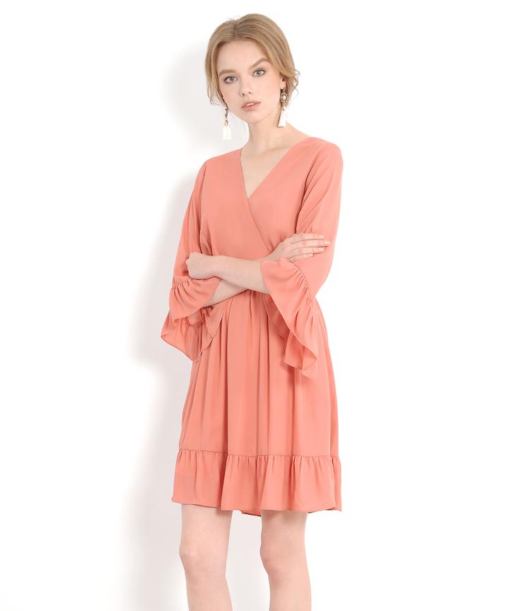 Prudence Kimono Dress - Peach