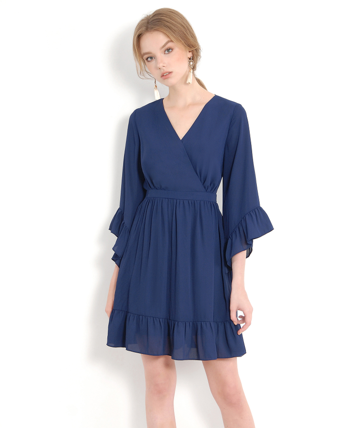 Prudence Kimono Dress - Navy