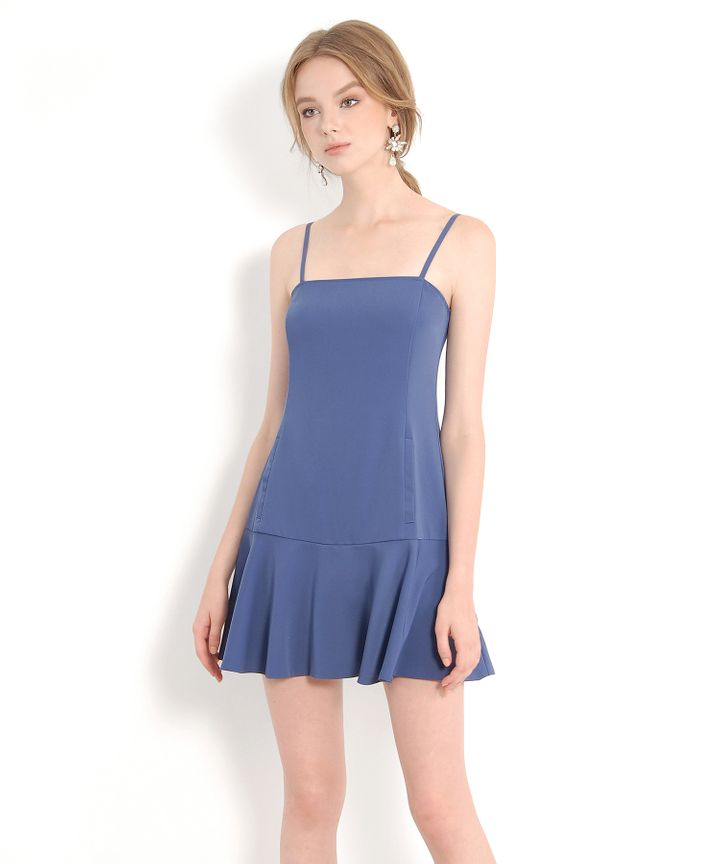 Signature Trumpet Dress - Dust Blue