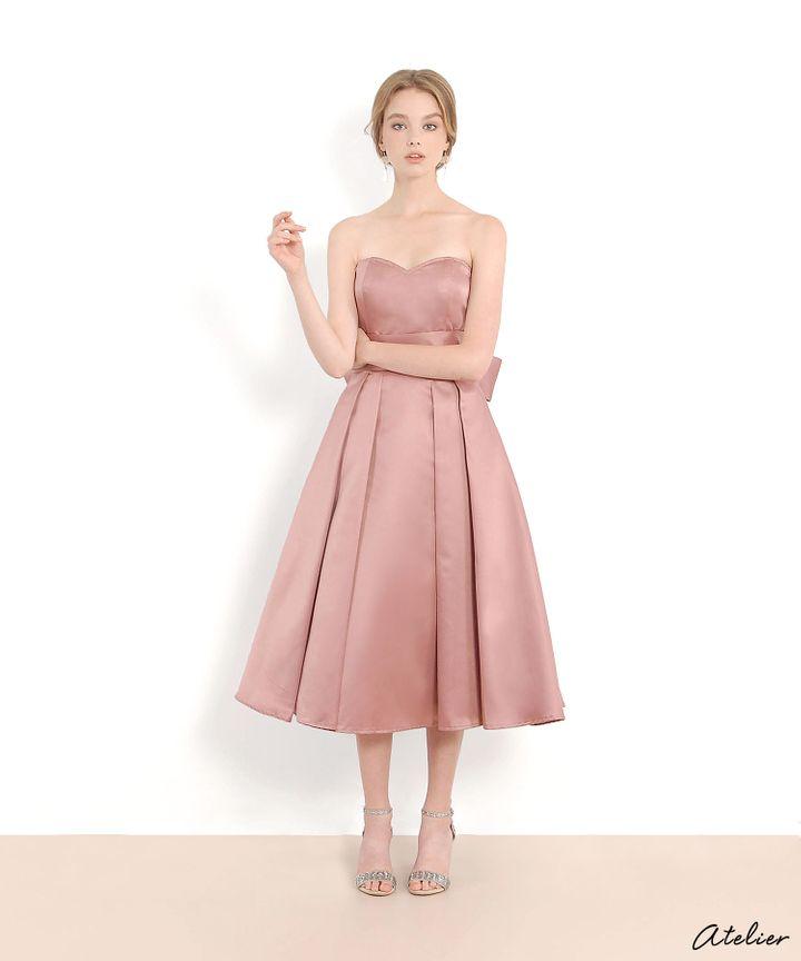 HVV Atelier Victoria Bustier Dress - Mauve Pink