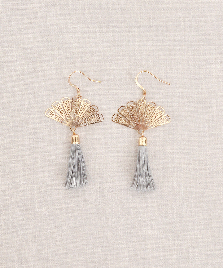 Oriental Fan Earrings (Restock)