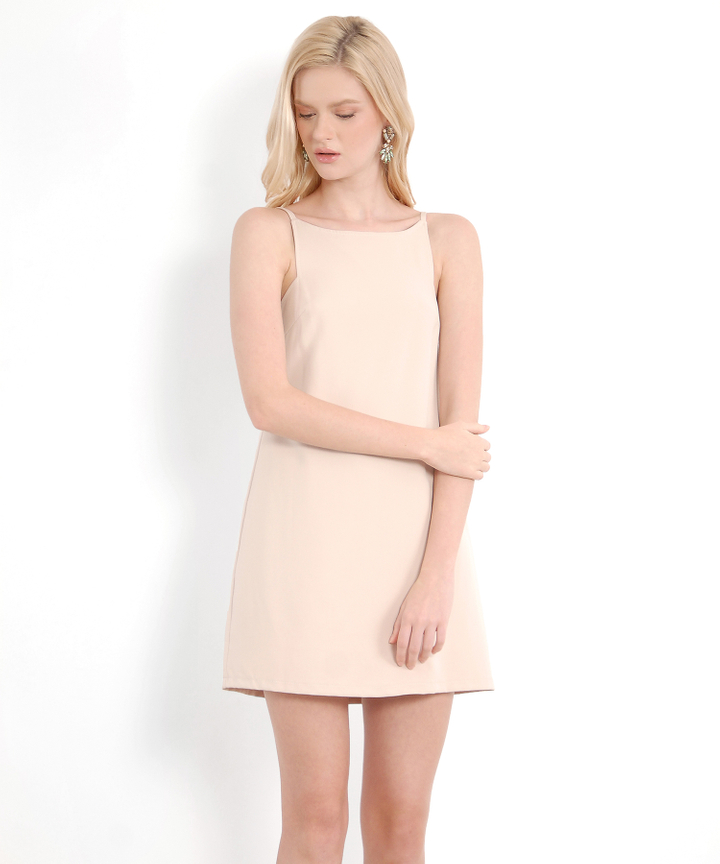 Bethany Shift Dress - Nude