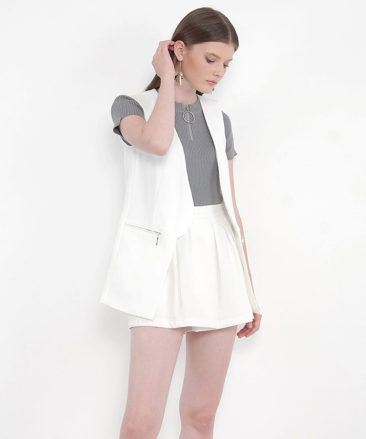 Sawyer Vest - White