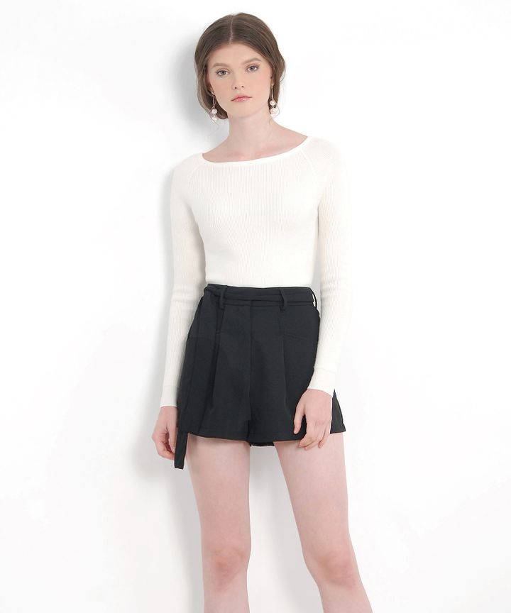 Laura Belted Shorts - Black (Restock)