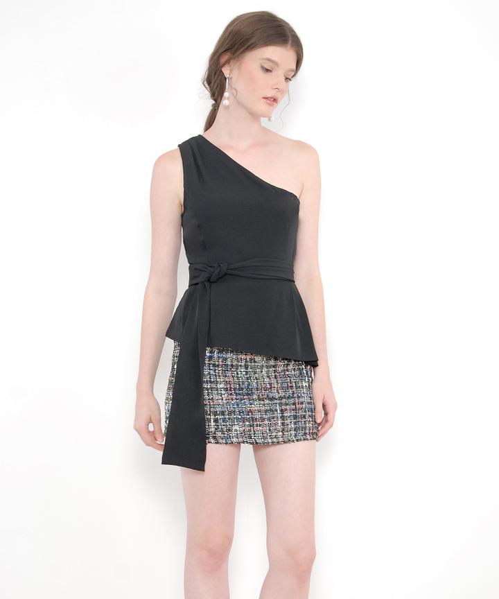 Inez Tweed Skirt - Black