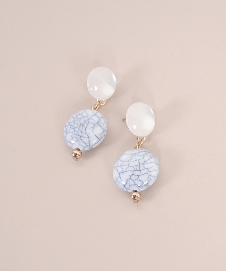 Crawford Marble Pearl Earrings