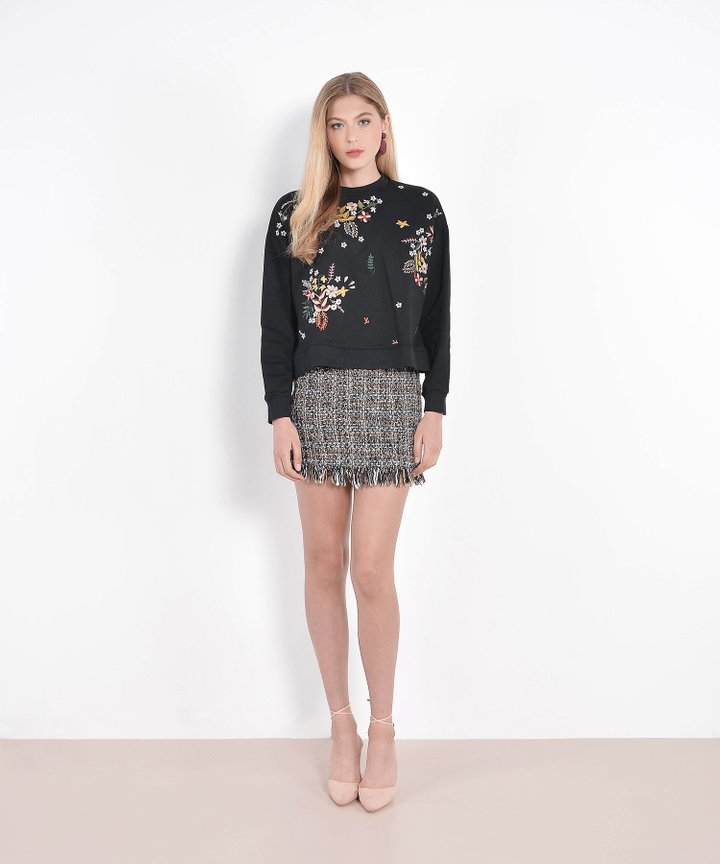Holly Embroidered Sweater