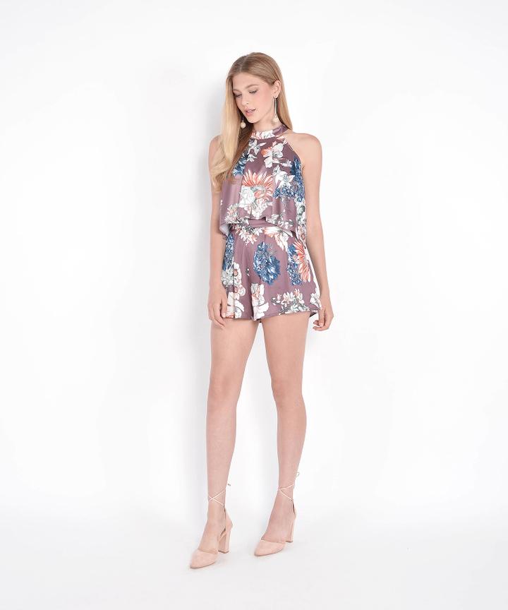 Versailles Floral Shorts - Mauve