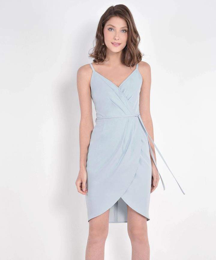 Lisbon Tulip Dress - Pale Blue (Restock)