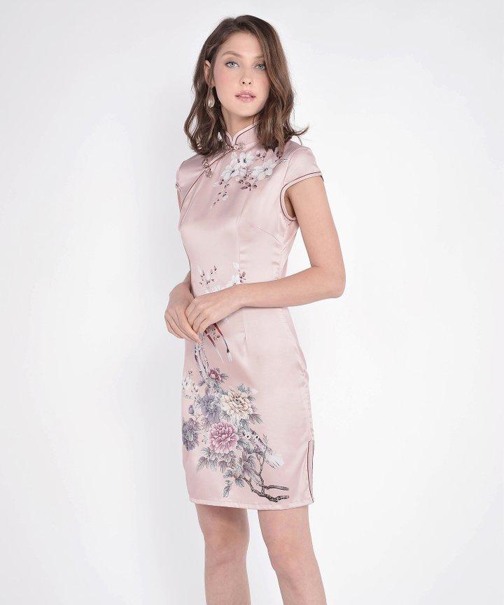 Fleurette Cheongsam - Pale Pink