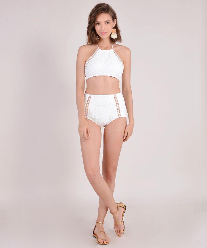 Lydia Eyelet Bikini - White