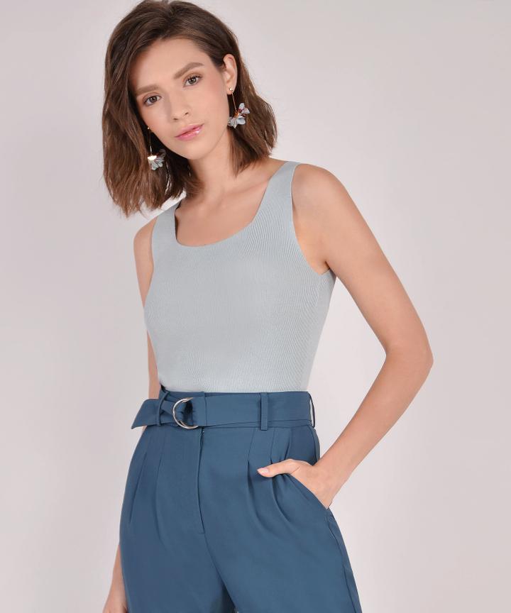 Astrid Knit Tank - Blue Grey