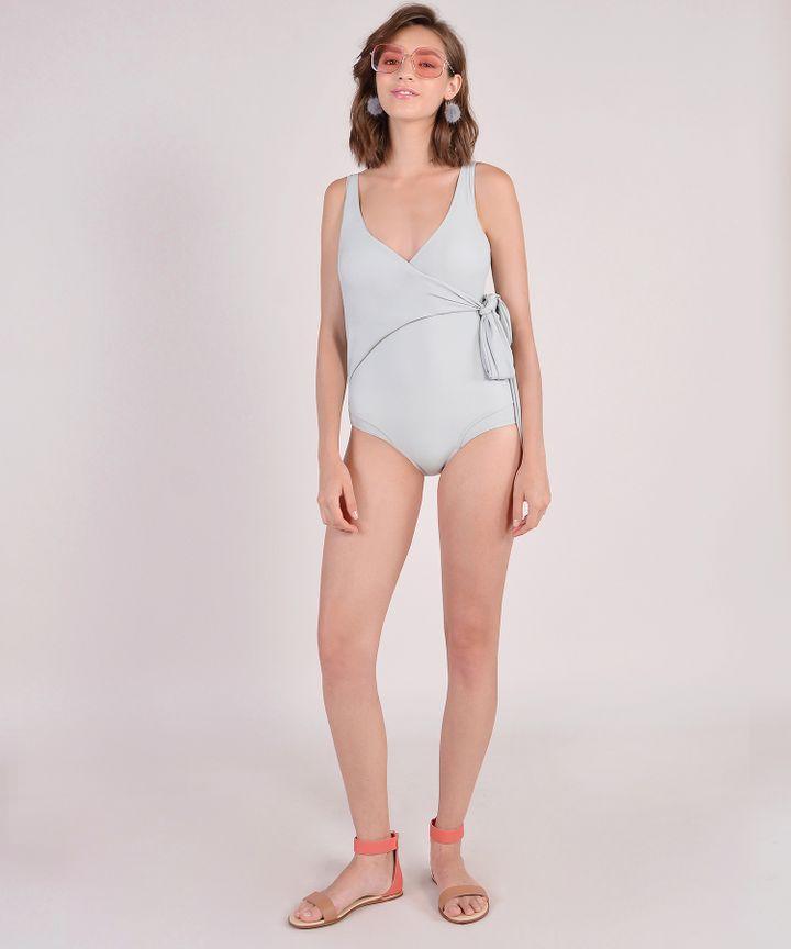 Dorothea Overlay Monokini - Grey