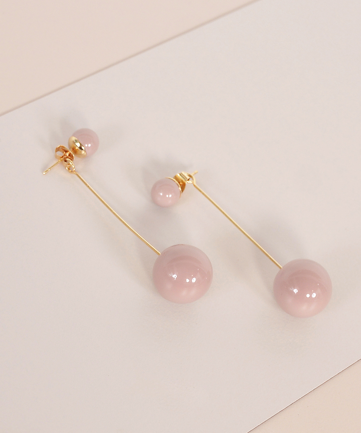 Pendulum Drop Earrings - Nude