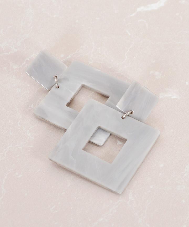 Pinnacle Square Earrings