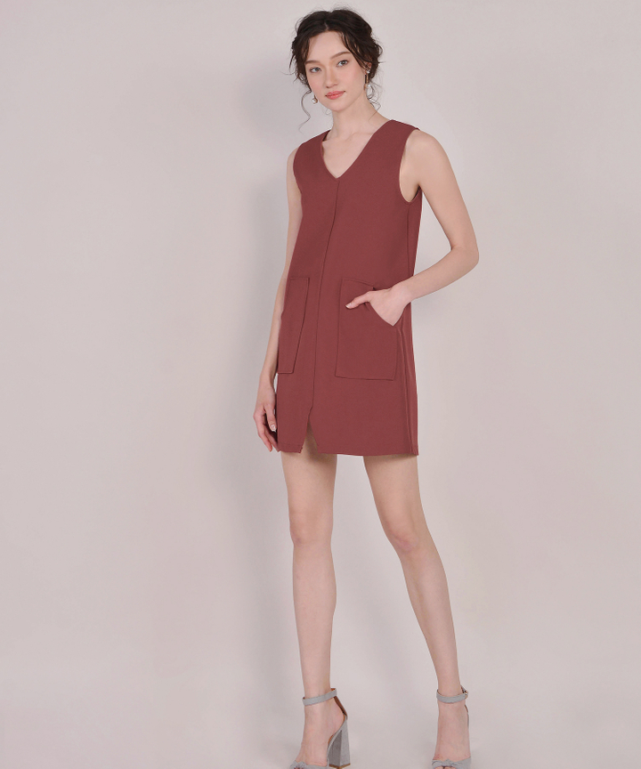 Melrose Shift Dress - Redwood