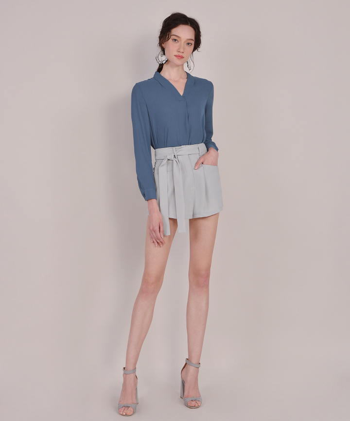 Angelo Blouse - Lucerne Blue