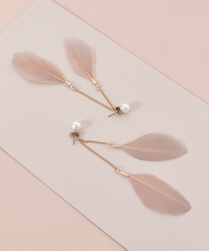 Avian Feather Earrings