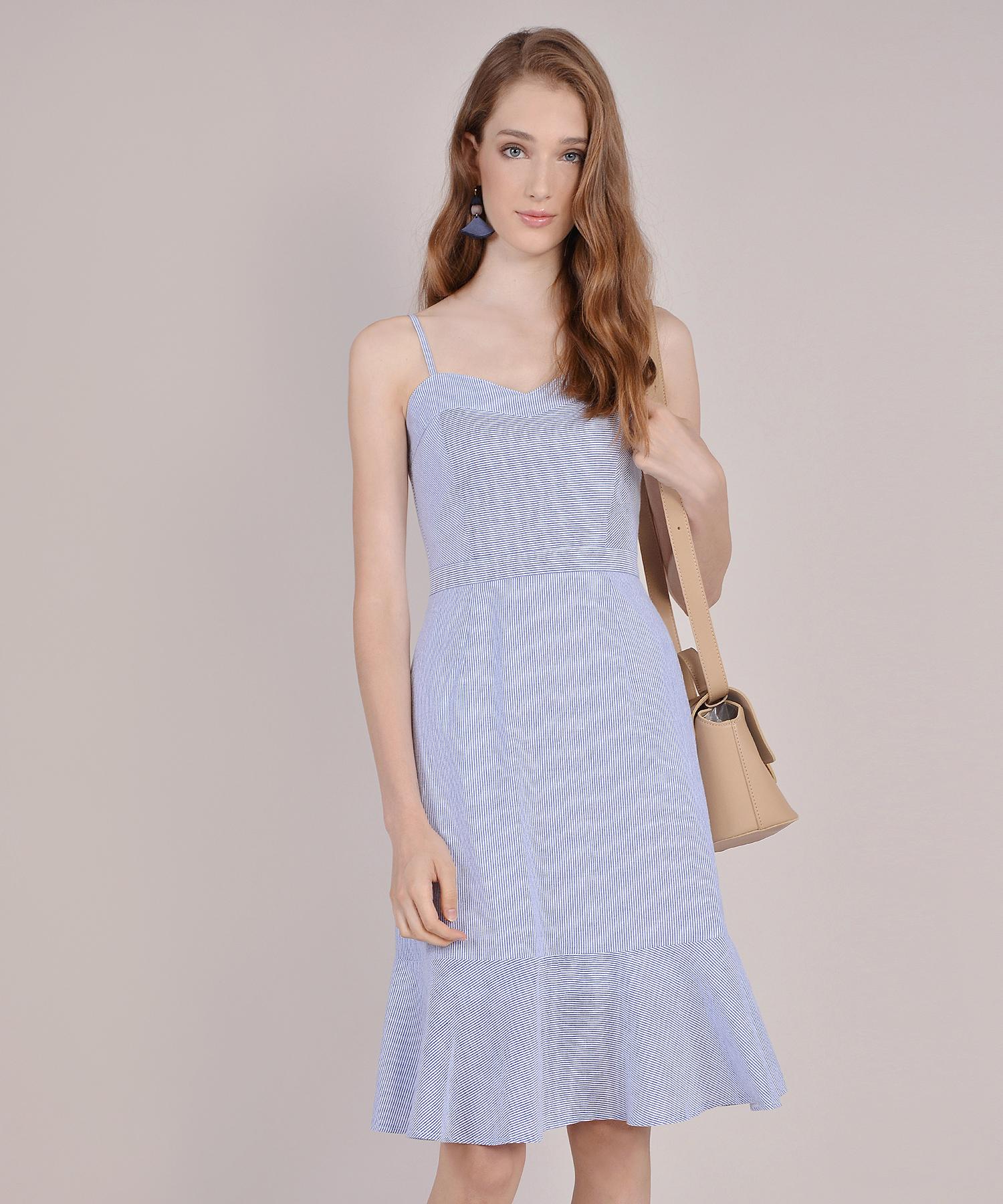 40d52c754d5c Avon Striped Midi Dress - Blue | hervelvetvase