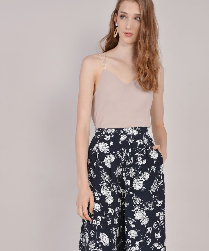 Meredith Floral Trousers - Navy