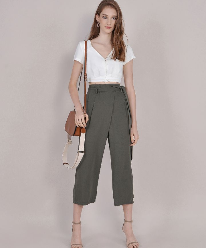 Clyde Trousers - Dark Olive