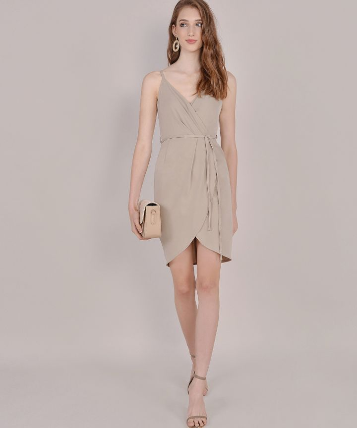 Lisbon Tulip Dress - Pale Olive