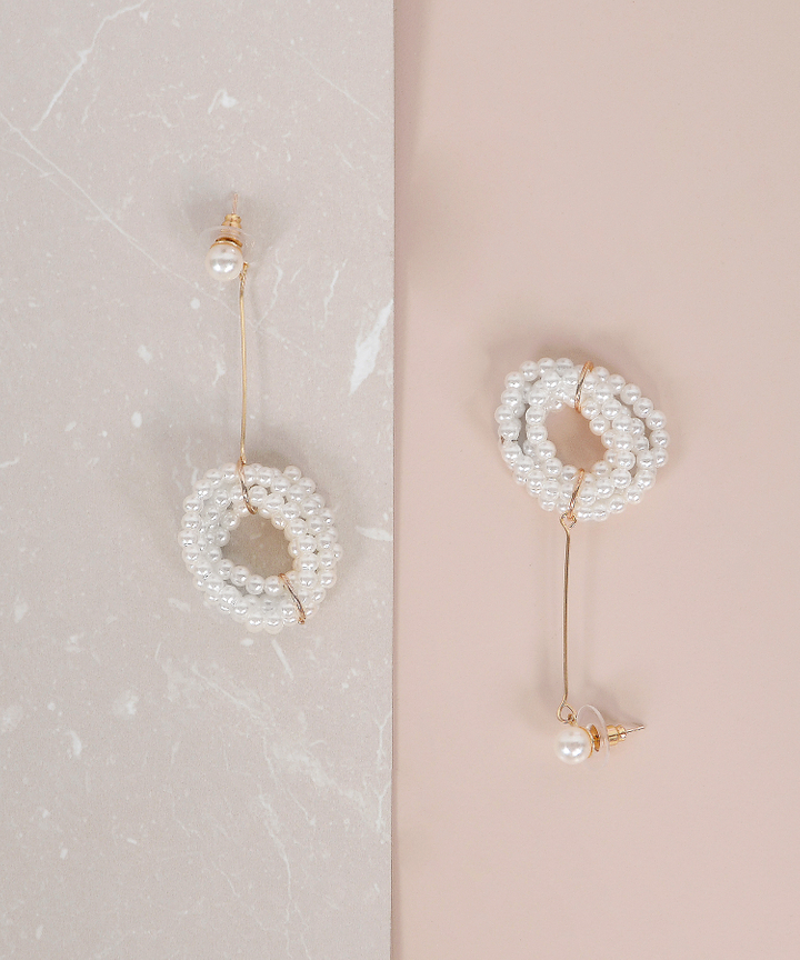 Monique Drop Pearl Earrings