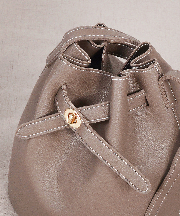 Altair Bucket Bag - Dark Brown