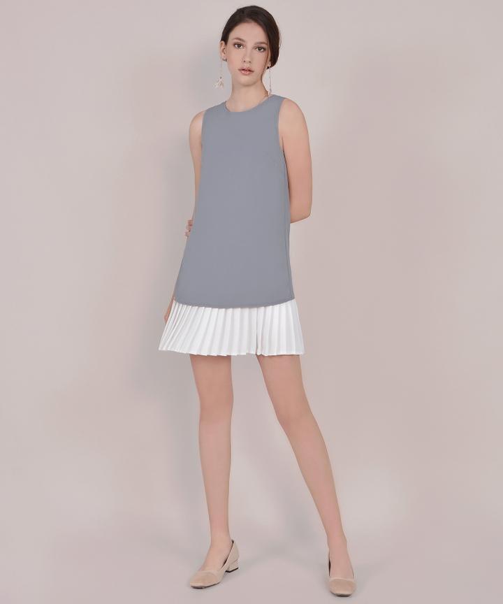 Capital Pleat Mini - Grey