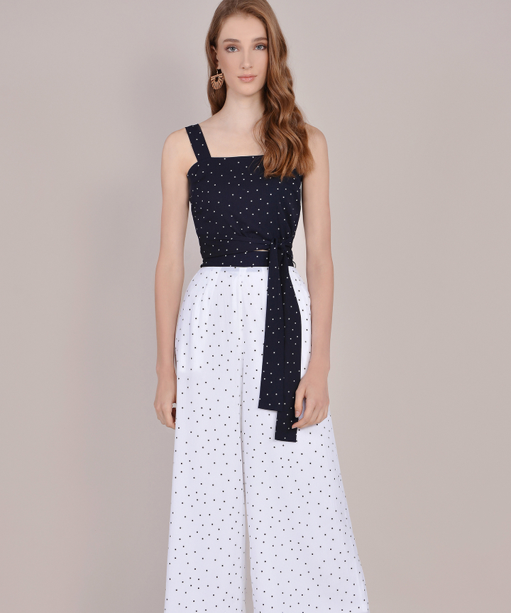 Orion Polka Dot Top - Navy