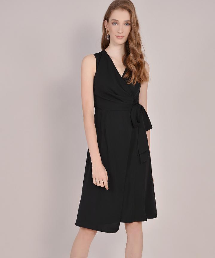 Suzette Corporate Midi Dress - Black