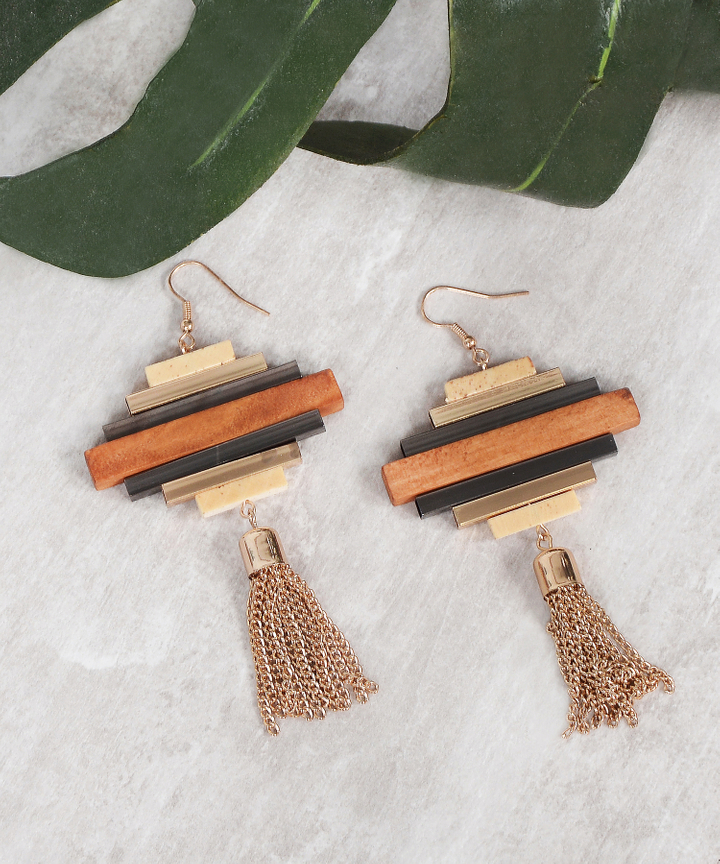Terrace Wooden Earrings
