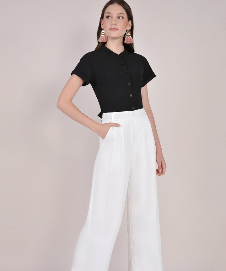 Sabine Cropped Top - Black