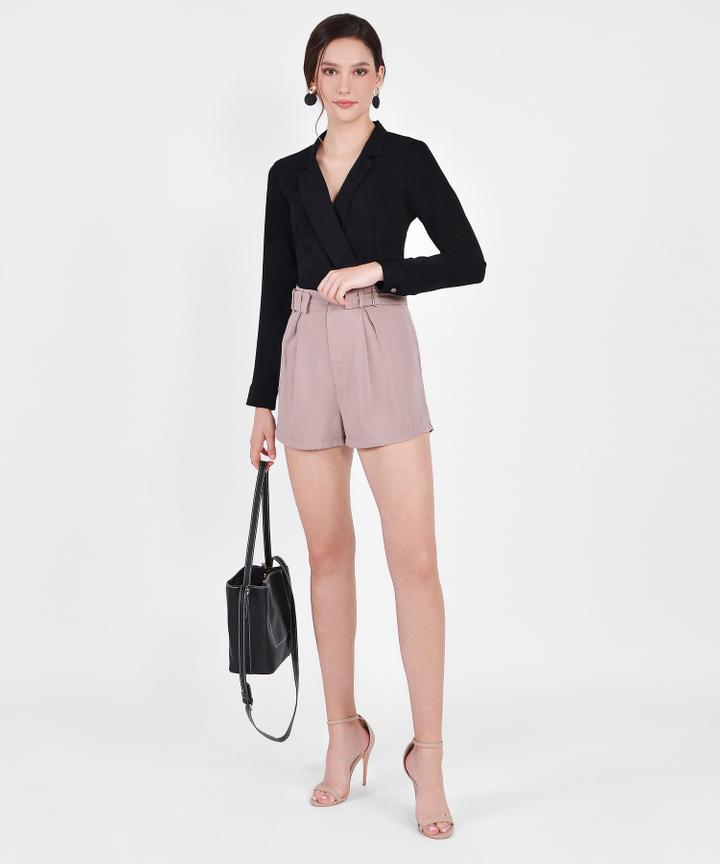 Viola Buckle Shorts - Dusk Pink