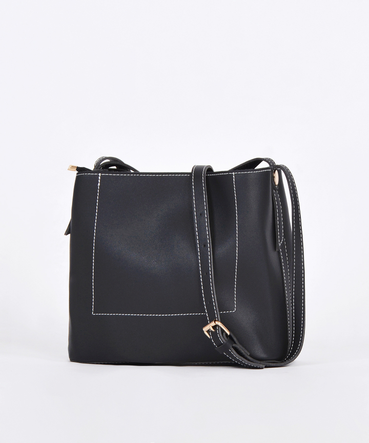 Riley Structured Sling Bag