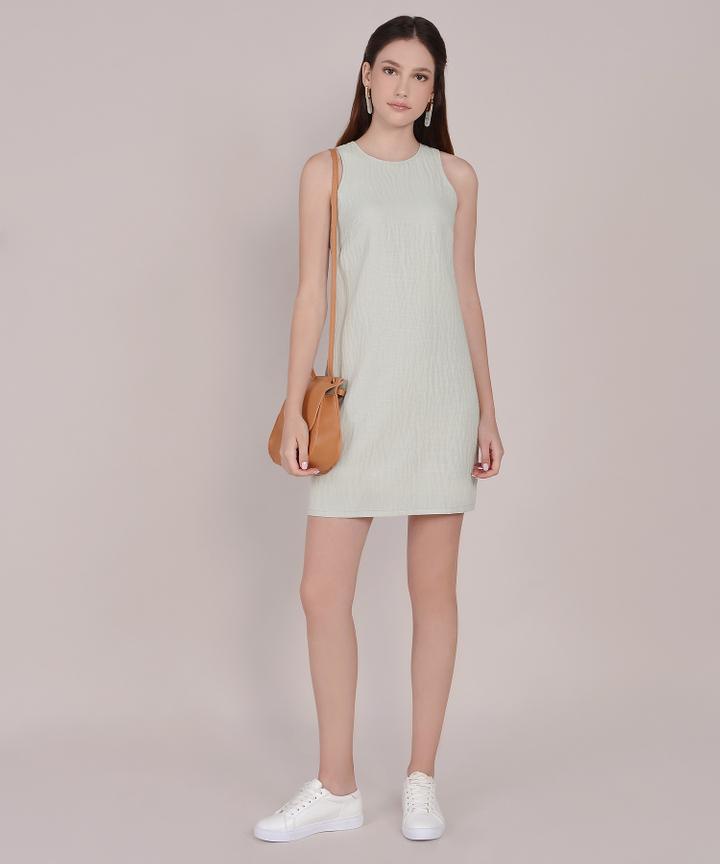 Sienna Striped Shift Dress - Spring Mint