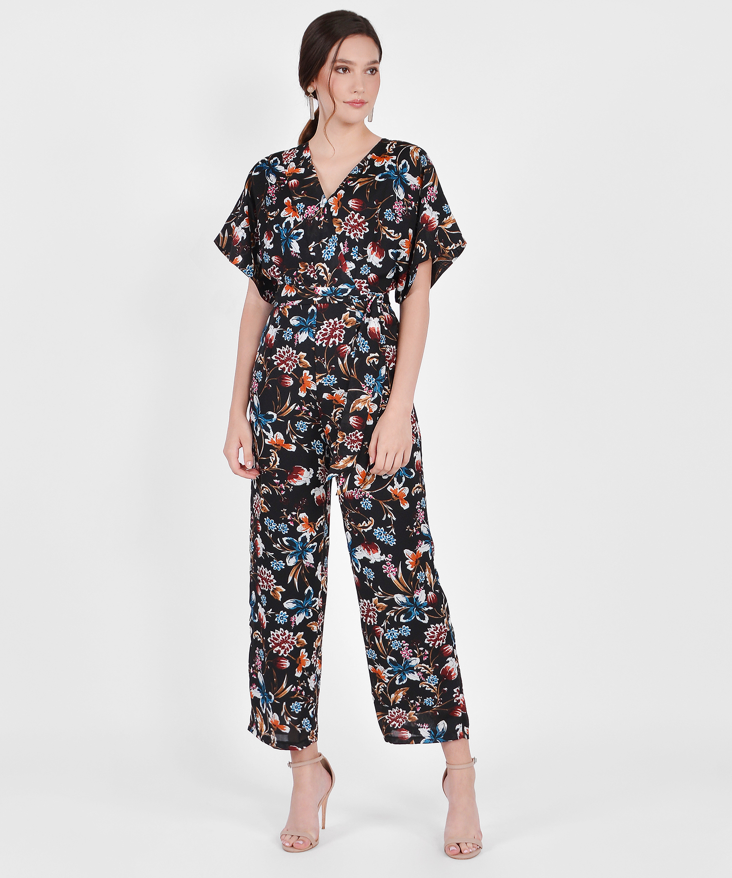de46cfefbb3 ... Hana Kimono Floral Jumpsuit - Black. Local Shipping Rates