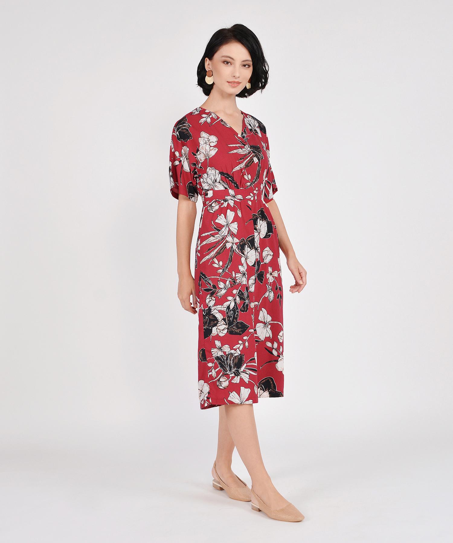 46490c4478f4 Fiore Kimono Culotte Jumpsuit - Crimson