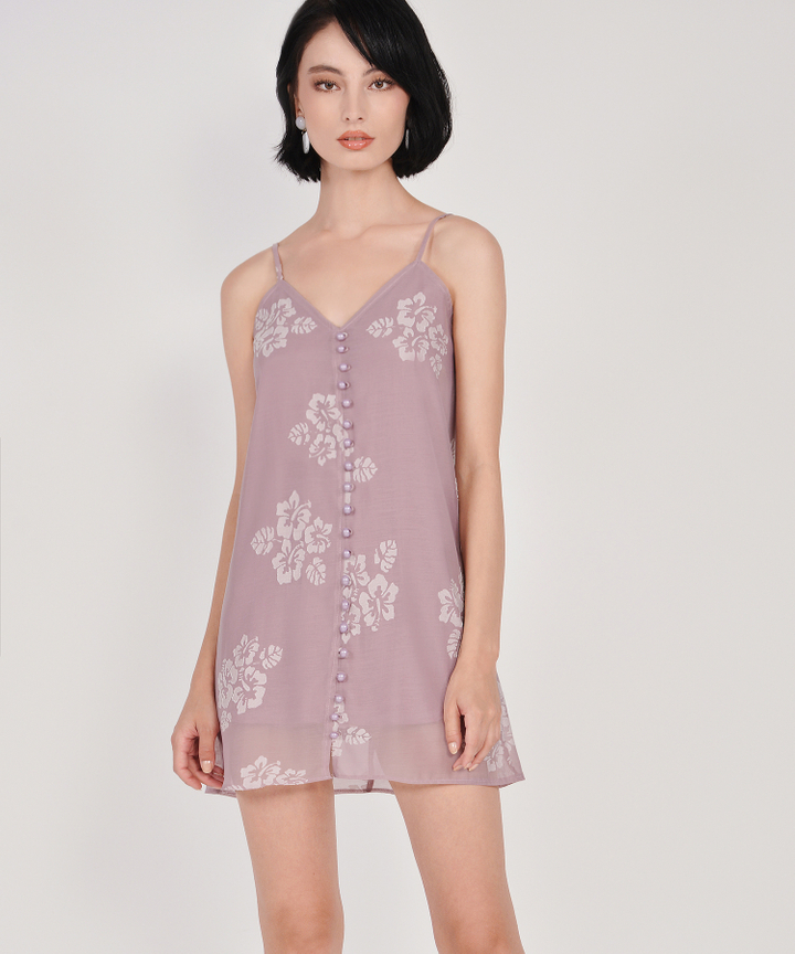 Nightingale Organza Dress - Dust Pink
