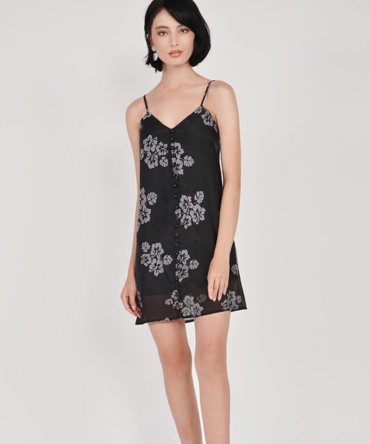 Nightingale Organza Dress - Black
