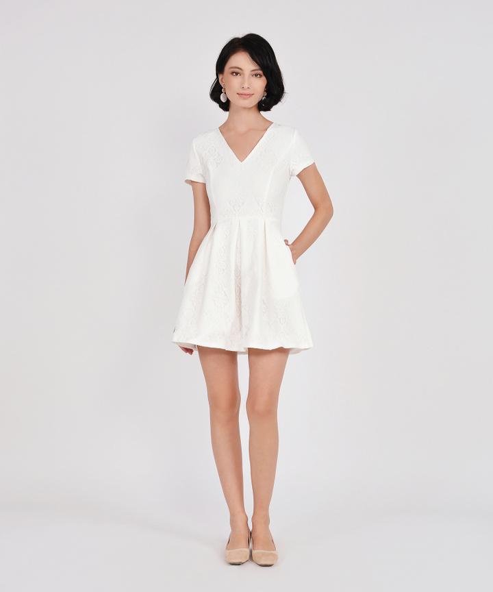 Carousel Lace Dress - White