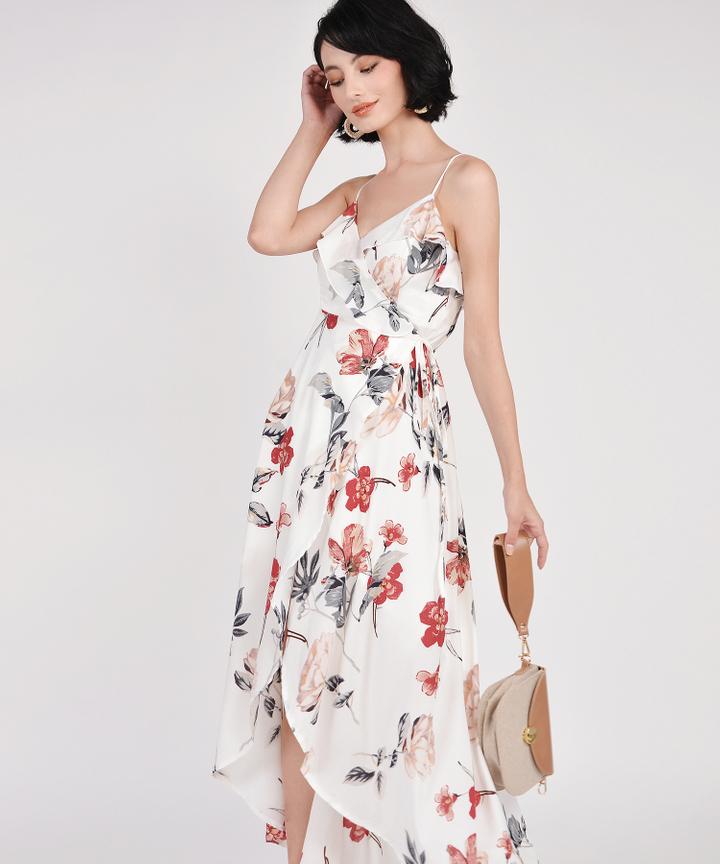Kimora Floral Overlay Maxi - White (Restock)