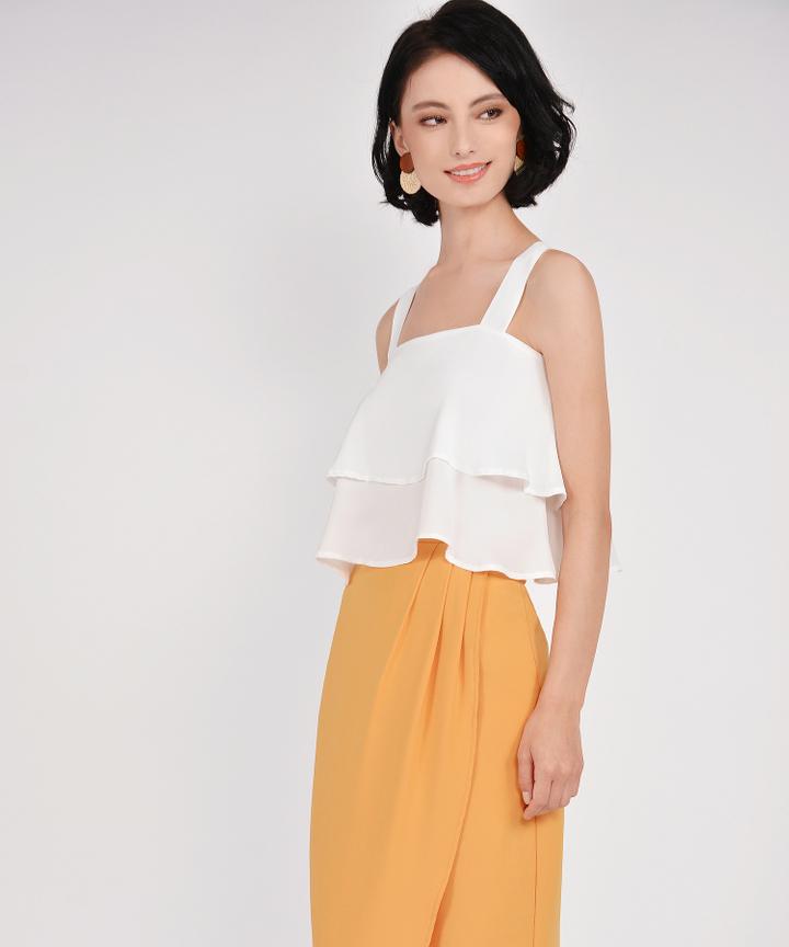 Lafayette Midi Skirt - Marigold