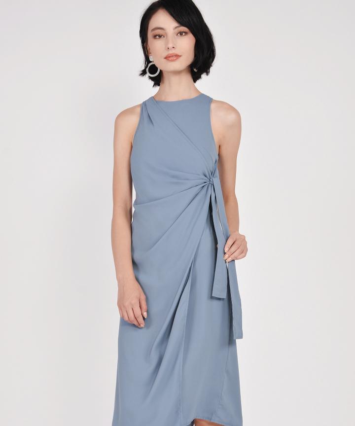 Estelle Knot Midi - Periwinkle Blue