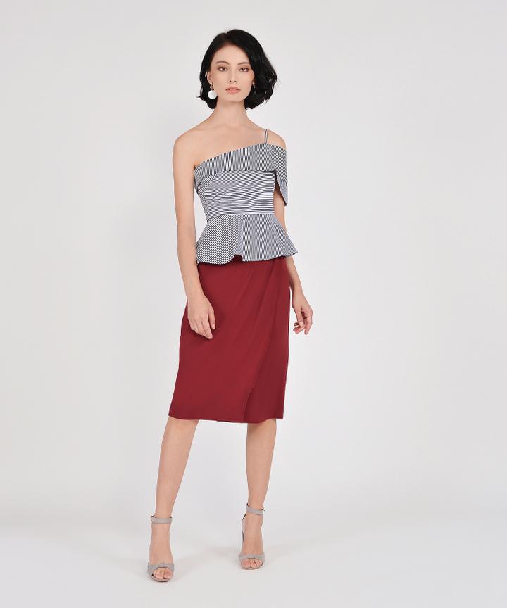 Lafayette Midi Skirt - Carmine