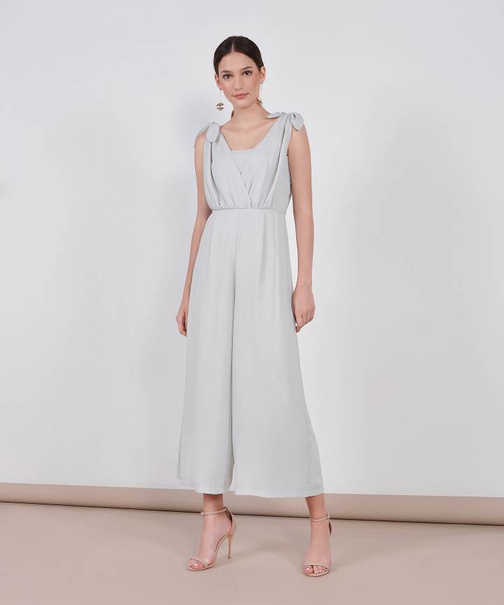 HVV Atelier Laurel Jumpsuit - Pale Grey